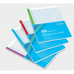 CA 3758 A4 Coloured Reinforced Refills Paper (7 Holes 8mm Ruled)