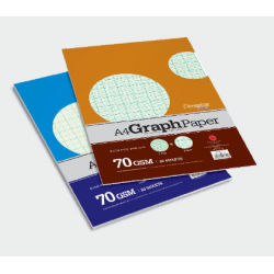 CA 3712 A4 50's Graph Paper Pack (2mm & 1mm Square)