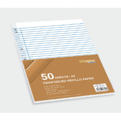 CA 3756 A4 Reinforced Refills Paper (7 Holes 8mm Ruled)