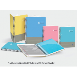 CA 120pgs 90gsm Wire-O 5 Subject Notebook (Perforated)