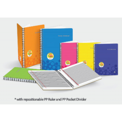 CA 80pgs 90gsm Wire-O PP Cover Study Notebook (Perforated)