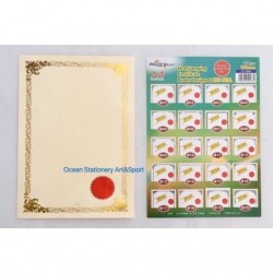 TS 3009 Gold Stamping Border Certificate (Right)
