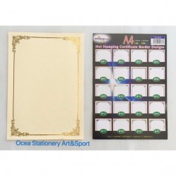 TS 3010 Gold Stamping Border Certificate